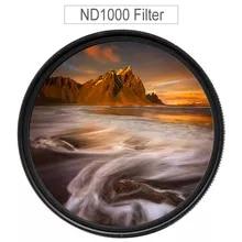 GREEN.L 43mm Slim Neutral Density ND1000 Lens Filter Optical Glass 10 Stop ND1000 43mm