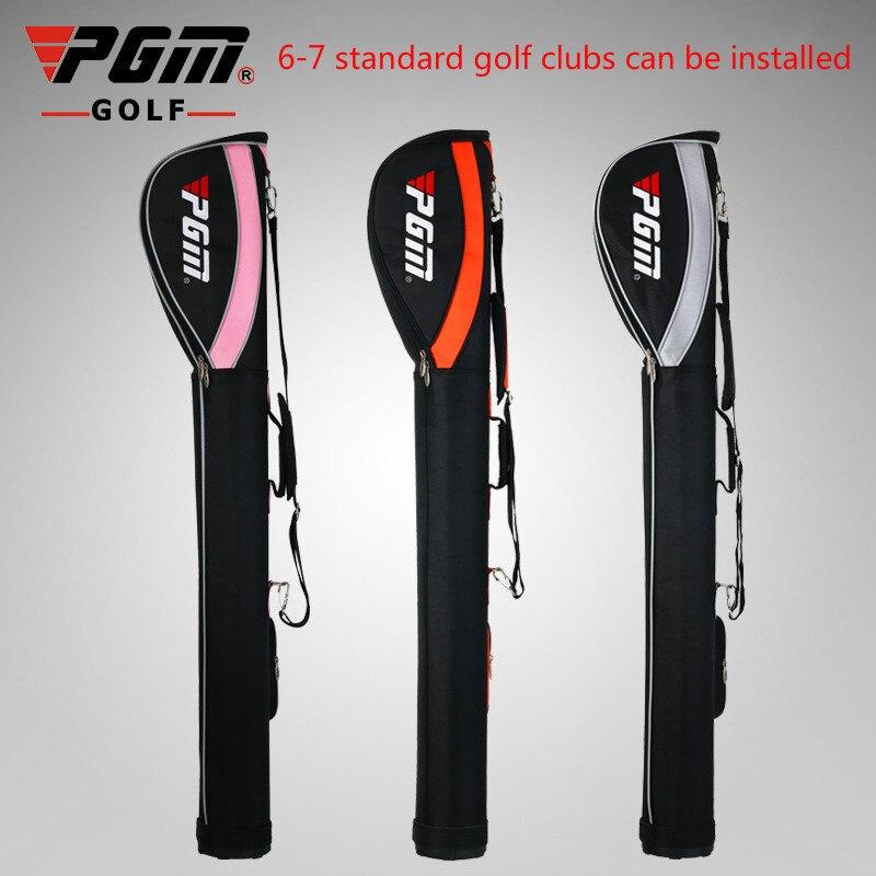 PGM Mens Womens Waterproof Gun Bag Nylon Portable Golf Gun Bag Lightweight Sport Bag Standing Gun Rack Can Pack 6-7 Clubs D0055