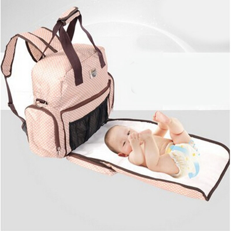 free shpping baby multifunction nappy diaper shoulder bag backpack mother high capacity mother. Black Bedroom Furniture Sets. Home Design Ideas