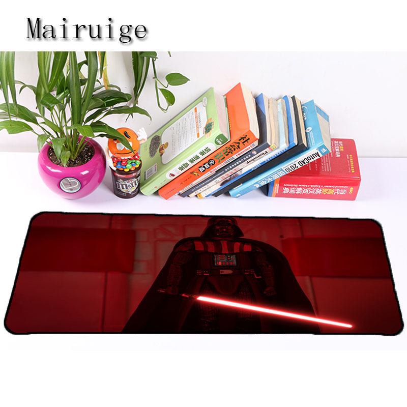 Mairuige Hot Selling Anime High Quality star wars Locked Edge Large Mouse Pad To Mouse Notbook Computer Mousepad Anti Slip Mat
