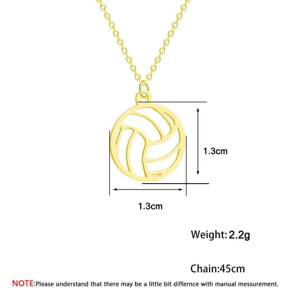 Todorova kółko okrągłe siatkówka wisiorek naszyjnik dla kobiet mężczyzn biżuteria Sport urok siatkówka fanów sportu prezenty