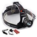 Poderoso Cree XML Led L2 Farol Frontale Zoom XM-L2 com Porta Usb Farol head Lamp Lanterna Lampe + 18650 Bateria carregador