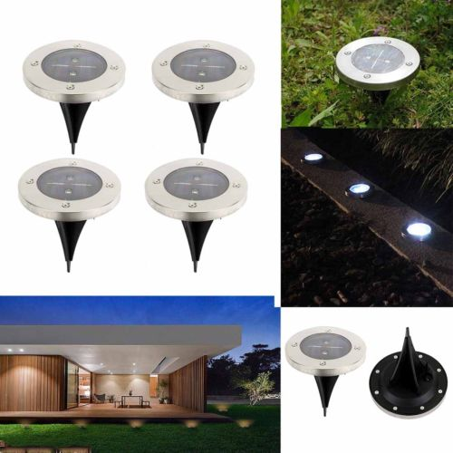 Waterproof solar powered led disk lights outdoor garden stair lights waterproof solar powered led disk lights outdoor garden stair lights as seen on tv in figurines miniatures from home garden on aliexpress alibaba aloadofball Images