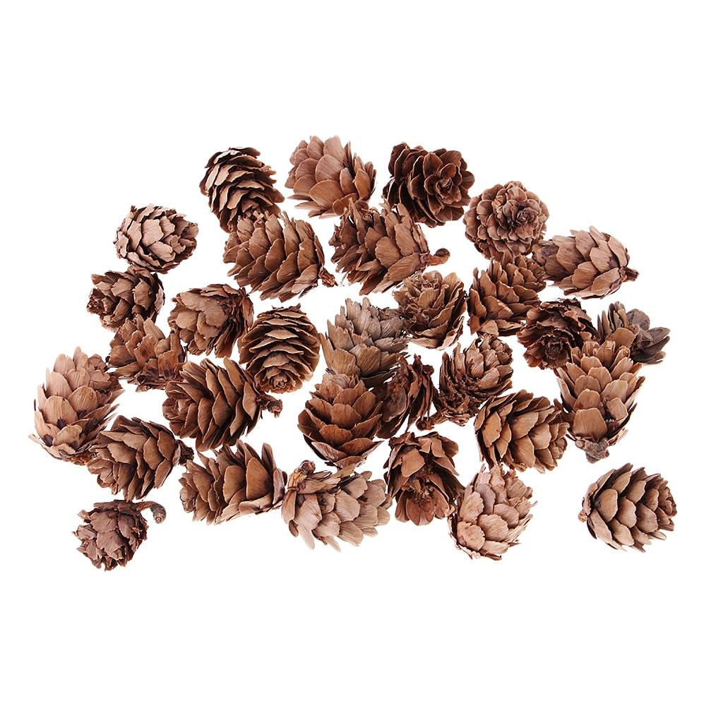 MagiDeal 30 Pezzi Reale Naturale di Pino Coni Decorativo Pigna Pallina di Natale Albero Puntali Albero di Natale Decorazione Della Casa Tabe Decor