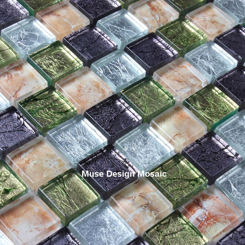Promoción de Salpicaduras De Azulejos De Mosaico De Vidrio Blanco ...