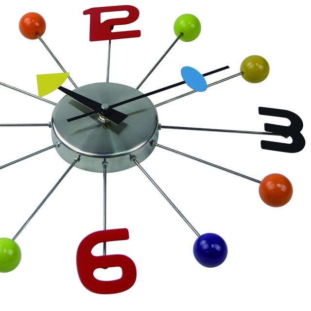 2017 Hot Metal Wall Clocks Modern Design Reloj De Pared Wall Watches Clock Living Room Wandklok Christmas Decorations for Home