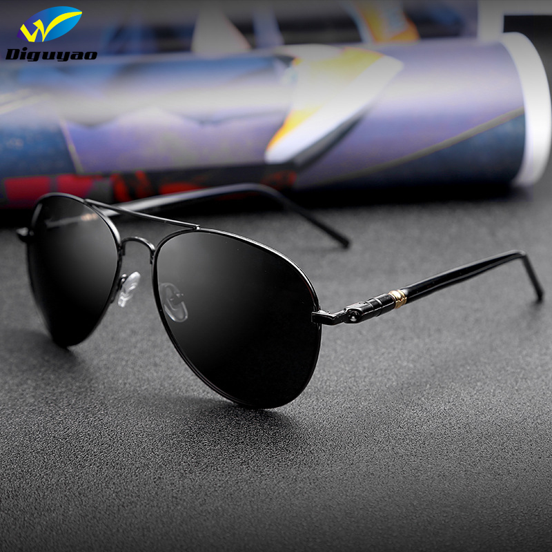 c7f5b5df6 Dos homens da moda Clássica de Luxo armação de Metal oculos de sol  masculino óculos Polarizados óculos de sol dos homens designer de marca