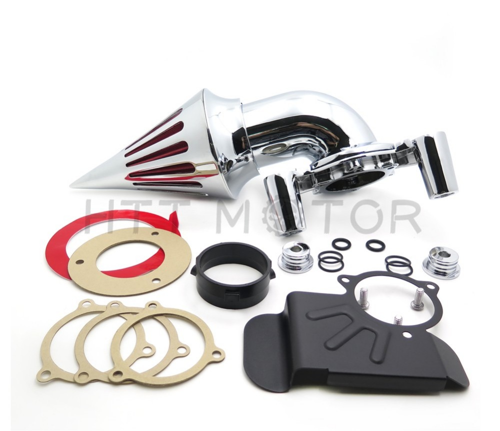 Aftermarket free shipping motor parts Spike Air Cleaner for Harley Davidson 2008-2012 Dyna Electra Glide FLHX Road King CHROME aftermarket free shipping motorparts for harley davidson softail dyna glide road king sportster 883 1200 cvo street glide chrome