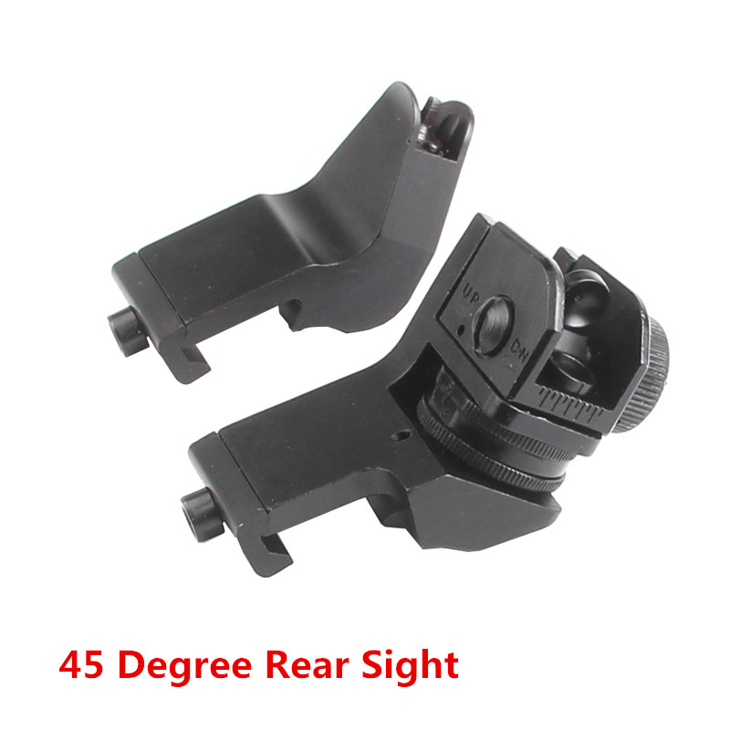 45 Degree Front Iron Sight AR 15Offset Backup Rapid Transition BUIS With Hexagon Wrench For Tactical Hunting Airsoft RL27-0001