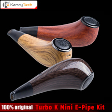 2017 New Original Kamry Turbo K Mini E-Pipe Turbo-K 30W 0.5ohm 1000mAh Wooden e pipe mod vapor Electronic Cigarette Hookah kit