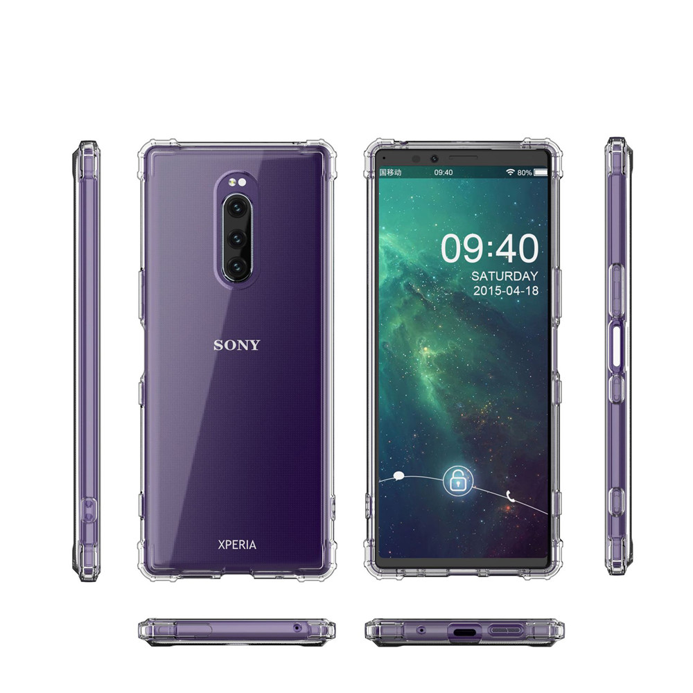 Reinforced Corner Soft TPU <font><b>Case</b></font> for Sony <font><b>Xperia</b></font> <font><b>1</b></font> 10 Plus XZ3 XZ2 XA2 Ultra <font><b>Case</b></font> Transparent Slim Shell Mobile Phone <font><b>Cases</b></font> Cover image