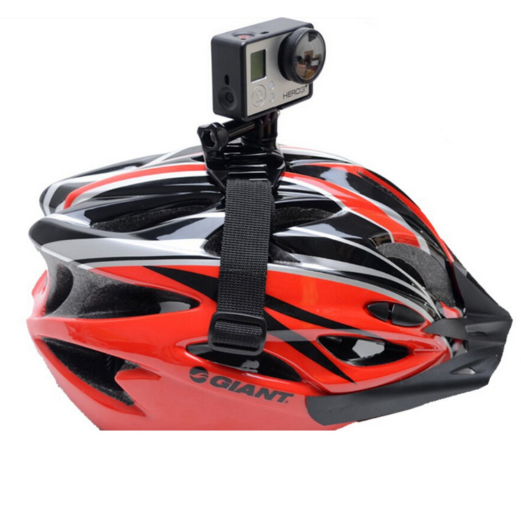 Gopro accessories Bicycle motorbike Helmet head Strap Band Mount Adapter For Gopro HD Hero 2 Hero 3 Hero 3+/4 xiaomi yi SJCAM
