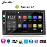 Jansite 7 inch 2 din Car Radio Android 8.1 Touch Screen Player GPS Navigation FM Multimedia radio Car Stereo with Backup camera