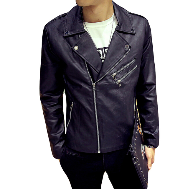 Side Zipper Style Faux Leather Suede Jacket Men Fashion Brand Hip Hop Jackets Coat Male Slim Fit Motorcycle PU Jacket Man