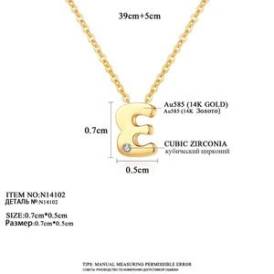 Image 4 - CZCITY oryginalne 14K złota Petite CZ breloczek z inicjałem naszyjniki dla kobiet unikalne A Z list naszyjniki na prezenty