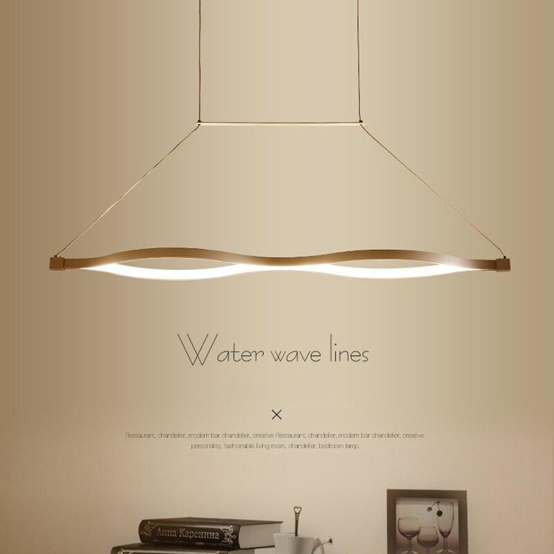 VeiHao New Modern Aluminum LED Restaurant Chandelier Kitchen Living Room Aisle White LED Chandelier AC90-260V Lighting