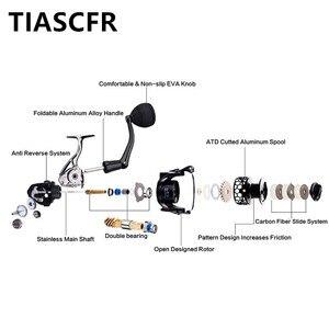 Image 4 - TIASCFR Spinning Fishing Reel Metal 14+1BB XS1000 7000 Series Water Resistance Ultra Light Reel High Gear Ratio Spinning Wheel