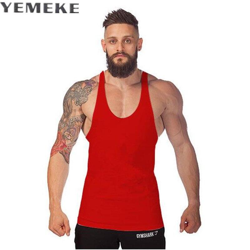 Bodybuilding Brand Tank Top Men Stringer Tank Top Fitness Singlet Sleeveless shirt Workout Man Undershirt Clothing