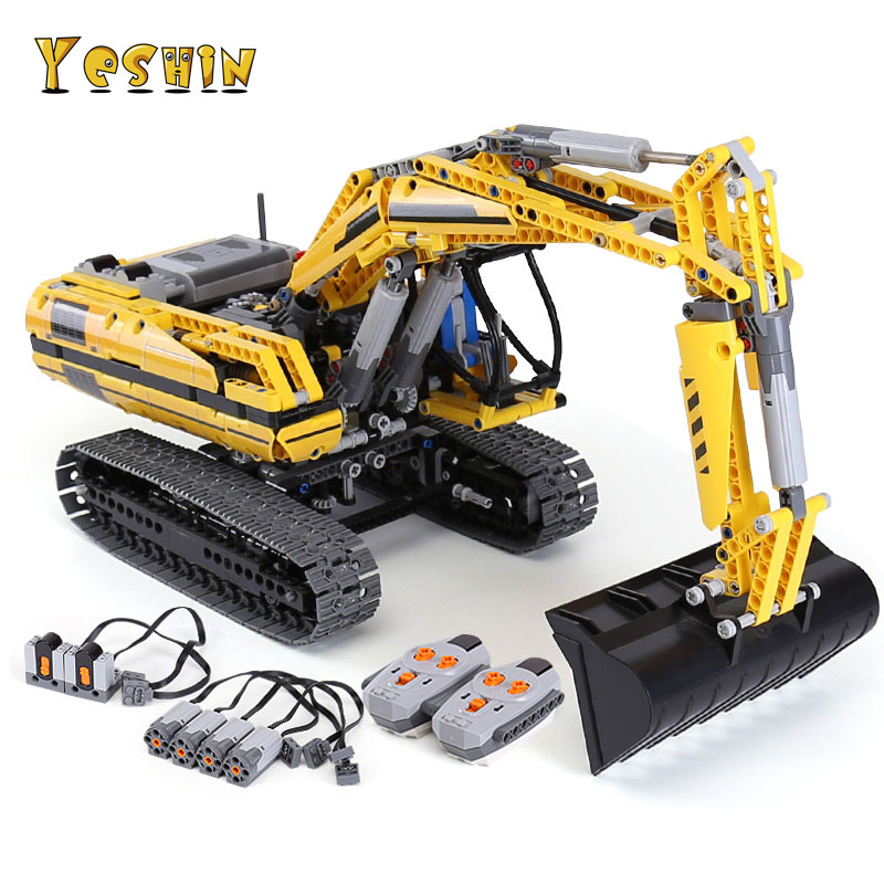 Yeshin Lepin 20007 Technique MOTORISÉ PELLE blocs de construction moteurs eléctriques Puissance Fonctions Briques Compatible legoinglys 8043
