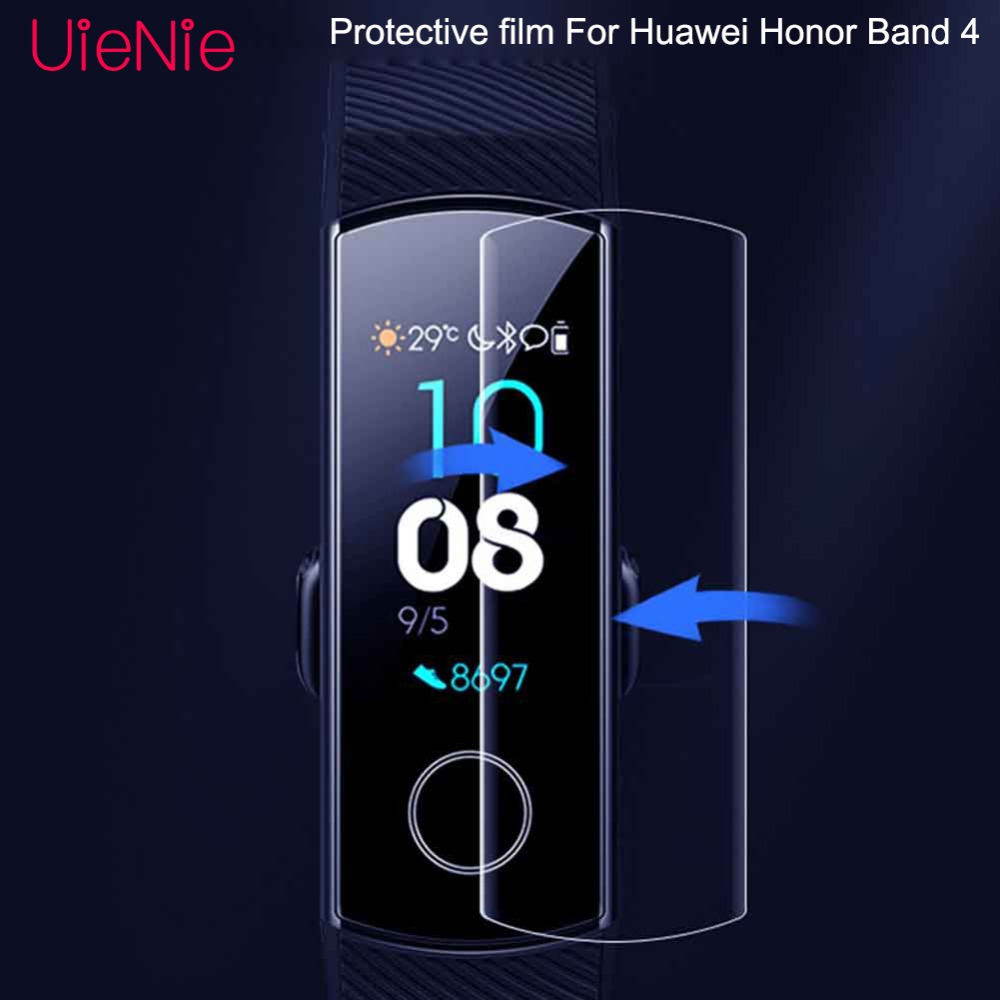 Tempered film For Huawei Honor Band 4 smart watch Protective film For Huawei Honor Band 4 screen protector 1pc 3pc 5pc in Watchbands from Watches