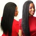 Cheap Good Kanekalon Fiber Senegalese Twist Hair Crochets Braids Locs 18Inch 7Colors Crochet Twist Hair Extensions Dreadlocks