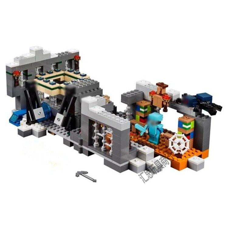 WAZ compatible with lego my worlds MineCraft 21124 Bela 10470 571pcs End Portal Figure building blocks Bricks toys for children