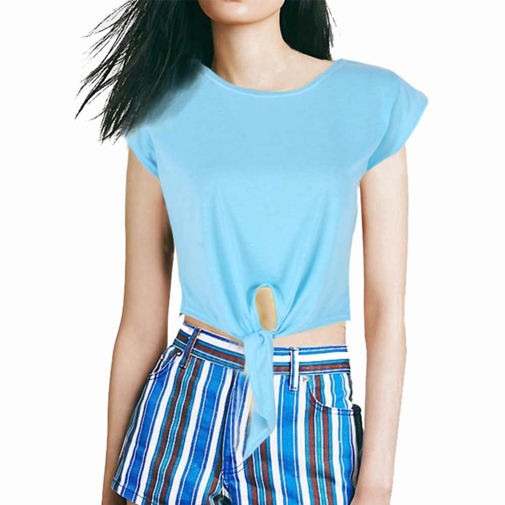 3b2627c4dabf ... Navel Exposed Short T shirt O-neck Women Tops crop Shirts Punk Cropped  Top Shirt ...