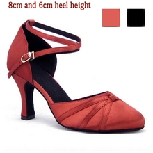 Closed Toe Ballroom Salsa Tango Latin Dance Shoes High Heels Dancing For Women Ladies