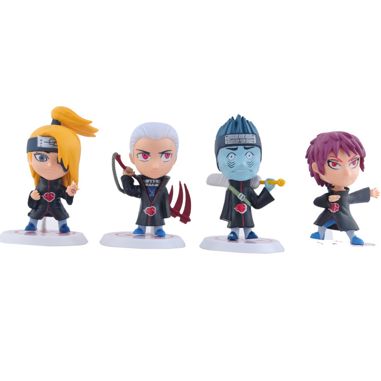 11pcs/set  Japan Anime Naruto 8cm Action Figure Model Toy