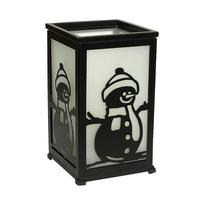 GiveU Decorative Led Candle Lantern with Timer Rustic Candle Lantern with Twelve Magnetic Seasonal Themed Panels ,5 x 5 x 8.5 B