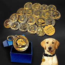 Идентификационная бирка для собак, персонализированные металлические бирки с гравировкой, для домашних питомцев, щенков, кошек, аксессуары для ошейников и подвесок