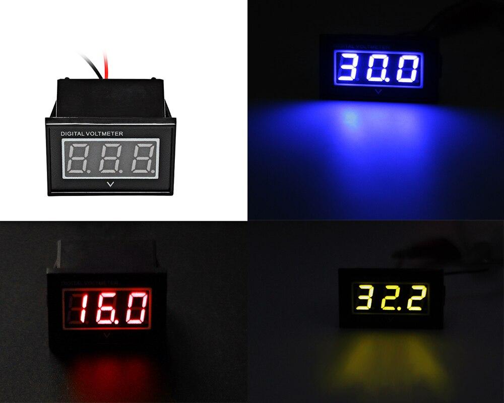 New Rot/Blau/Gelb Mini 3-Digital Led-anzeige DC 48 V Voltmeter ...