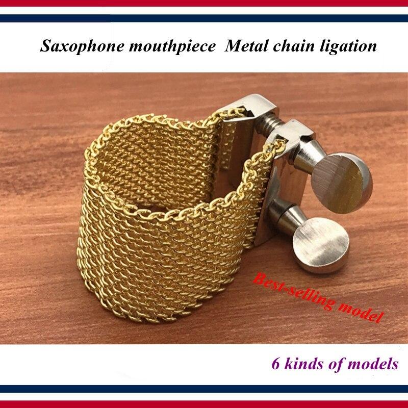 Saxophone accessories parts Saxophone bakelite Metal mouthpiece chain ligation dukoff Beechler Lebayle OTTO LINK style