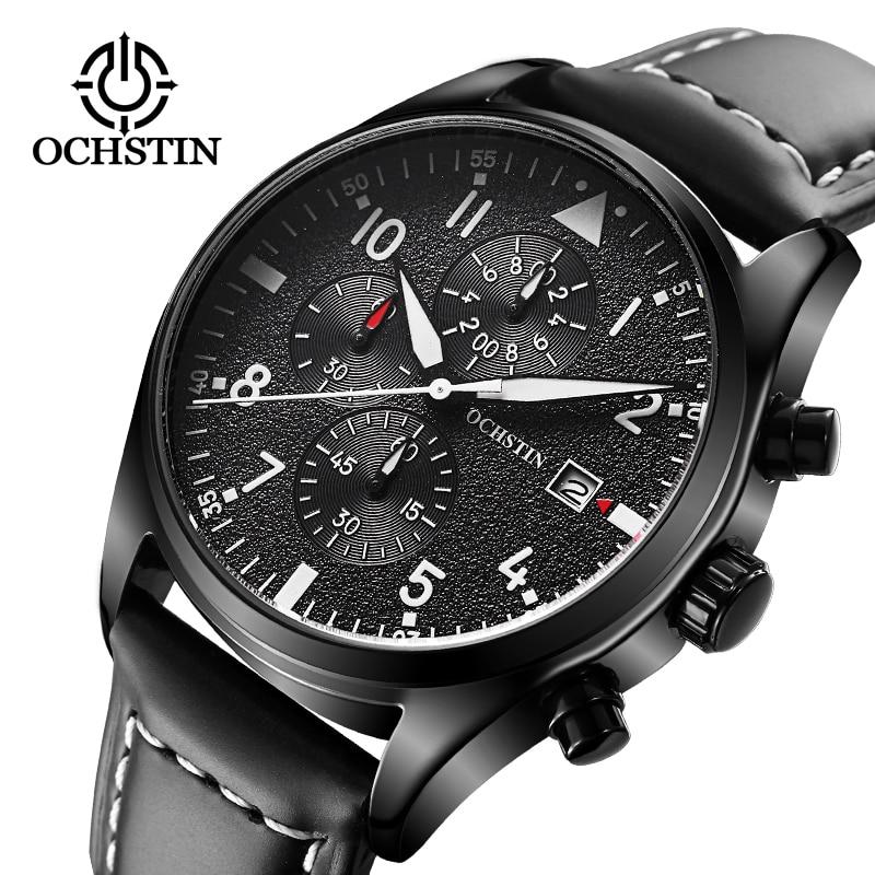 2017 heren zakelijke horloges topmerk luxe chronograaf horloge sport quartz horloge mannen klok mannelijke relogio erkek kol saati