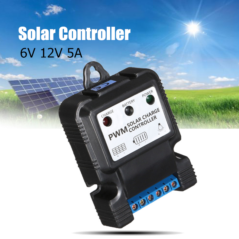 Nice 5a/10a Auto Solar Panel Charge Controller 12v/6v Pwm Charge Solar Power Collector Regulator With Intelligent Led Indicator Outdoor Lighting