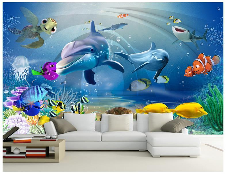 Us 1221 45 Off3d Wall Murals Wallpaper Custom Picture Mural Wall Paper Beauty 3d Dream Aquarium Living Room Tv Sofa Background Wall Decoration In