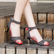 Elegant Ankle Strap Womens High Heels Sandals Sexy Open Toe Sandals Female Summer Shoes Women Block Heels Fashion Shoes 2019 New недорого