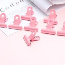 2 шт./компл. креативные зажимы милый розовый металлическими фиксаторами для офиса аксессуары Бумага зажимы фото зажимы