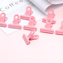5PCS/set Creative Cute Pink Metal Clips Office Accessories Paper Holder Photo Note Clip Binder Sealing Multifunction Poster Clip(China)