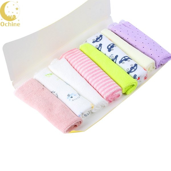 8 Pcs Baby Kids Towel Lots Infant Toddler Soft Bath Kerchief Child Wipe Washcloth LY2