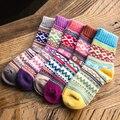 3 Пара Горячие Теплые Женщины Девушки Повседневная Зимние Носки Красочные Теплая Зима Chaussettes Femme Фантазия Happy Socks Женщин Носки