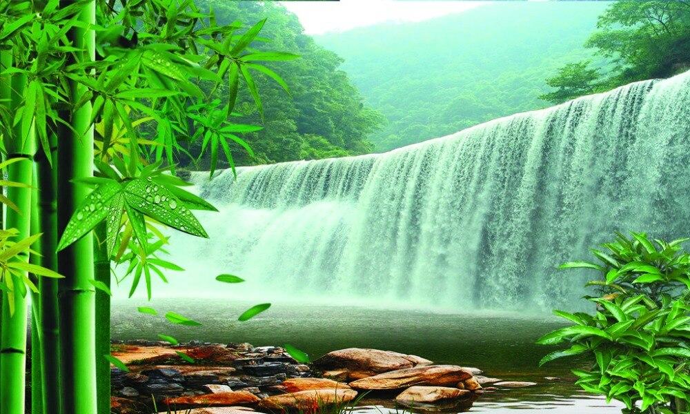 Foto Druck 3d Vorhang Bambus Wasserfall Blackout Vorhang Fur Das