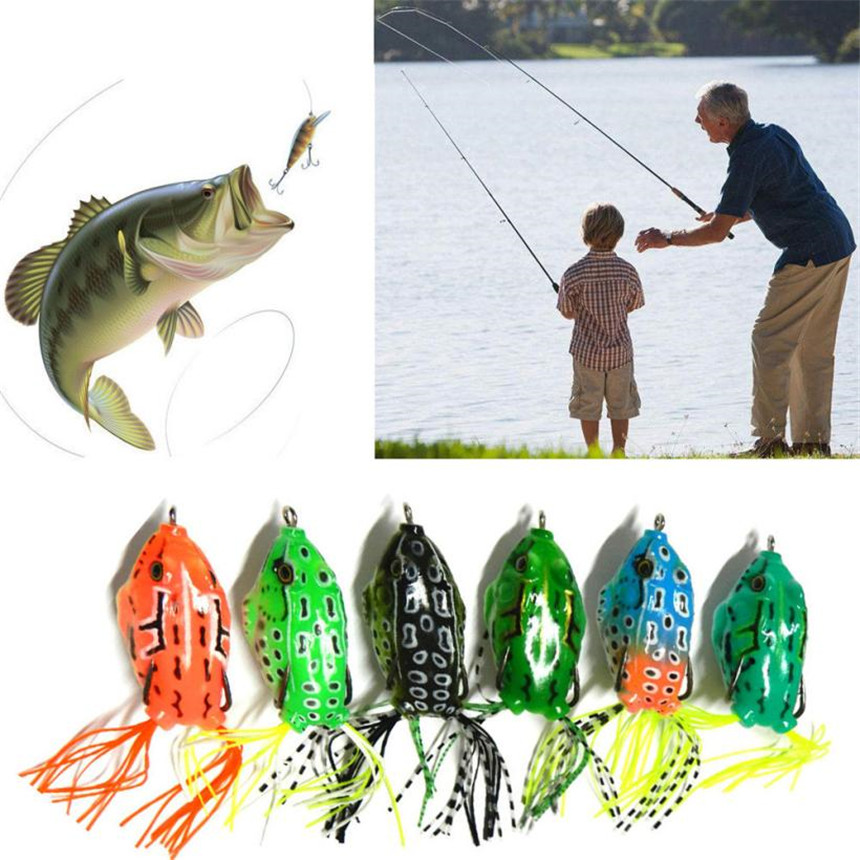 1 Pcs Classic Bait Frog Lures Bait Minnow Fishhook Fishing Lure Hard Tackle Bait Hook Bass Crankbit Fishing Jig Accessories M25