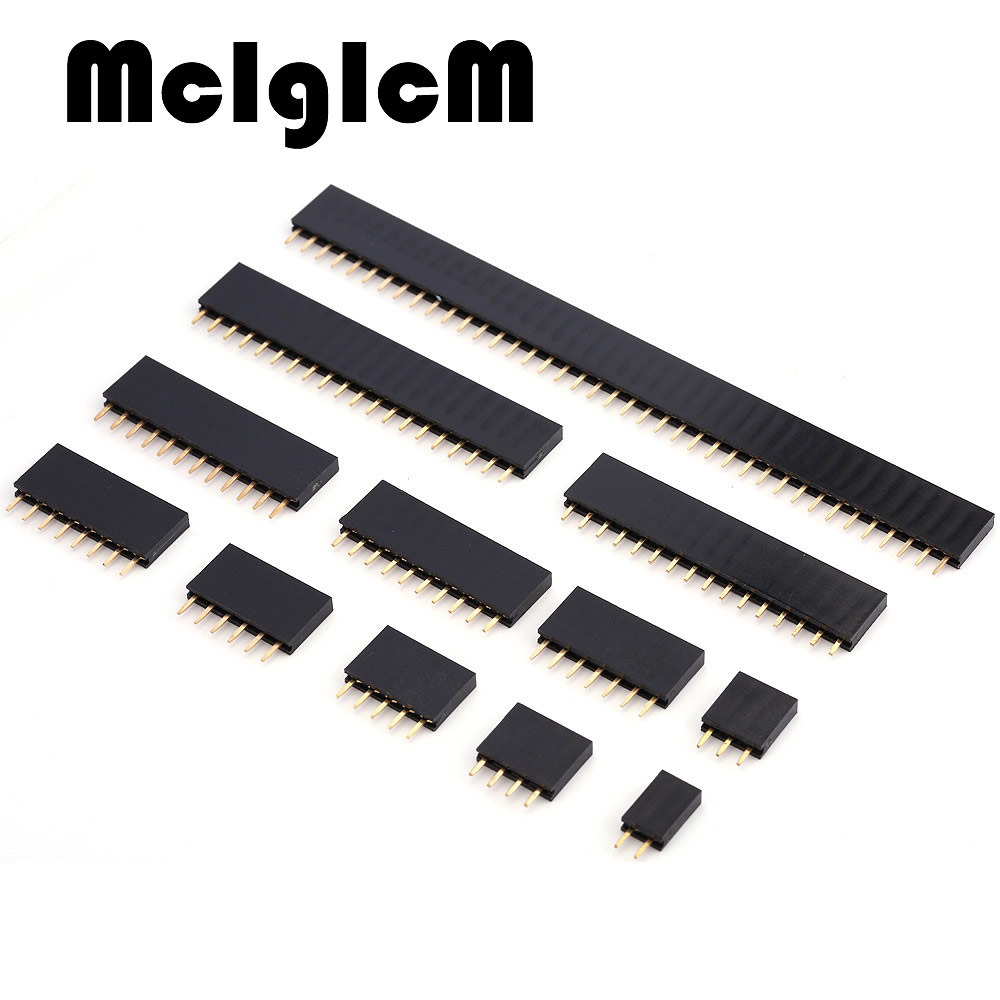 Female Pin Header 2.54mm Pitch 2/3/4/5/6/7/8/9/10/11/12/13/14/15/16/20 Pin PCB Female Pin Header Connector Straight Single Row 1pcs ap027 gx20 9 10 12 14 15 pin male