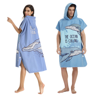 Beach Surf Towel microfiber bathrobe Poncho Hooded washrag multicolor Absorbent Quick drying Easy for Changing Cloth brand