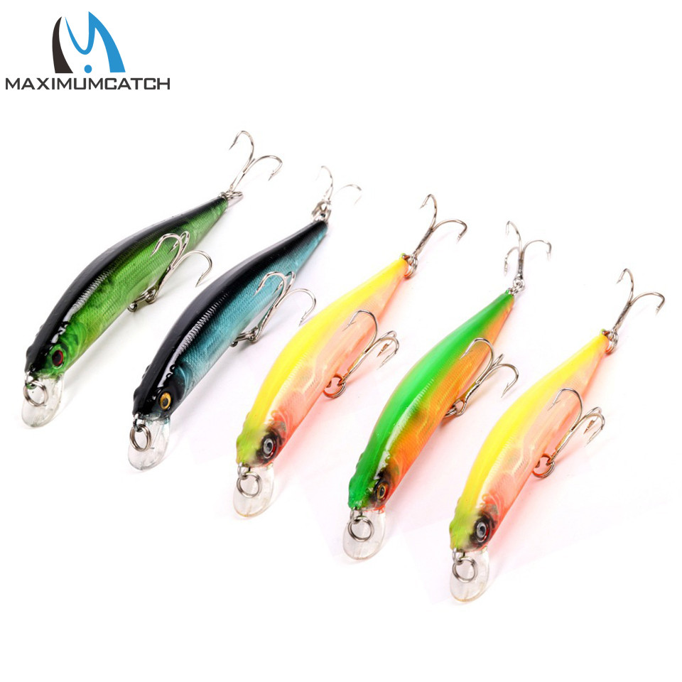 Maximumcatch 100mm 8.37g 1.2m 5Pieces/Lot  Minnow Fishing Lure Artificial Bait Plastic Hard Fishing Lure Fishing Bait 5 pieces lot as15 g
