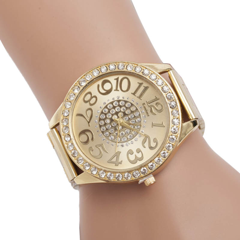 New Arrive Dress Women Watches Men Faux Chronograph Quartz Plated Classic Crystals Watch relogio masculino Clock