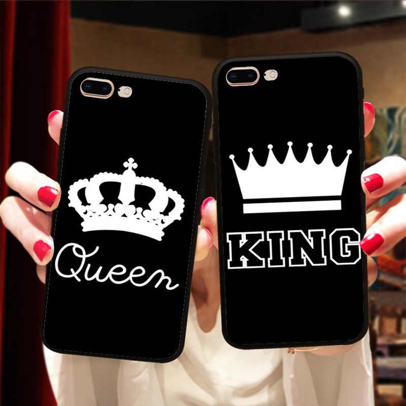 BFF Roi et Reine 01 Couverture Couple de Cas Pour Samsung a5 j5 2017 a8 2018 Meilleurs Amis Souple En Silicone coque pour téléphone portable
