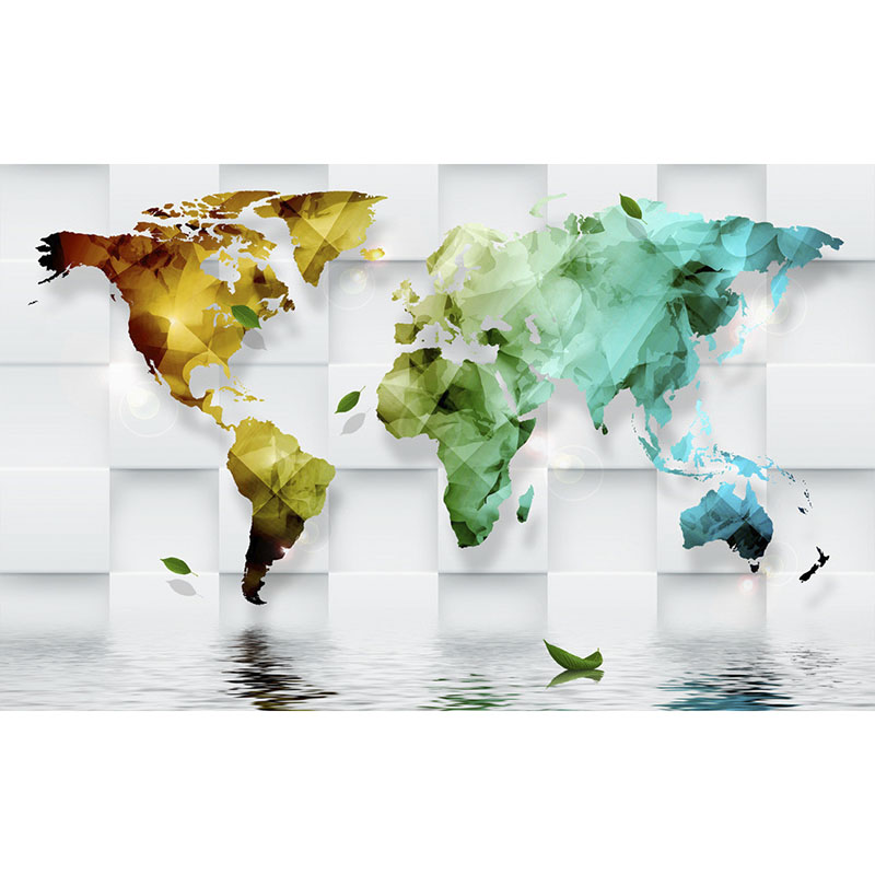 Beautiful wallpaper art decoration for living room tv wall wallpaper beautiful wallpaper art decoration for living room tv wall wallpaper 3d colorful world map murals non woven wall paper new320 in wall stickers from home gumiabroncs Images