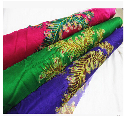 Phoenix Feather Color 100% Silk Georgette Silk Chiffon Scarves 6 Mumi Han Chinese Clothing Fabric Material Skirtings